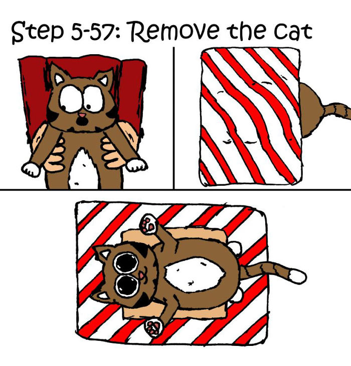 christmas gifts how to wrap presents when you have cat comic iizcat 5 5c1781f0b0274 700