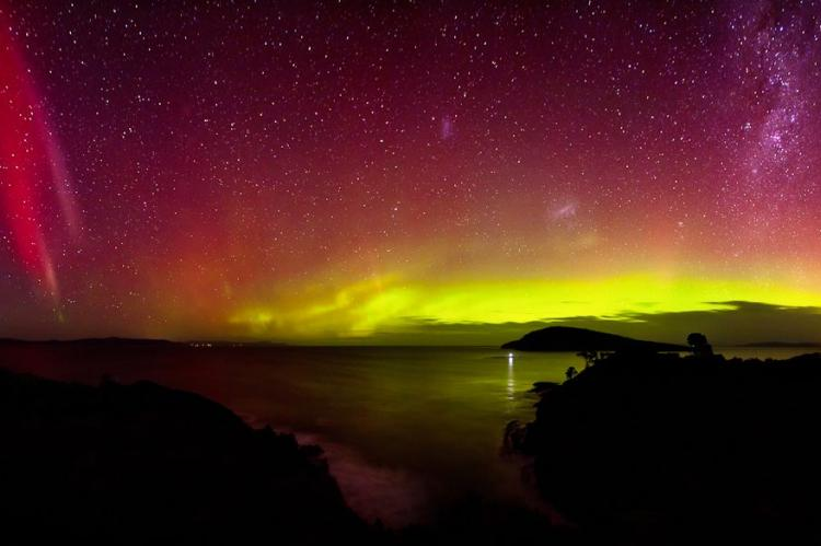 Aurora Australis Goats Bluff July 15th 2012 James Garlick