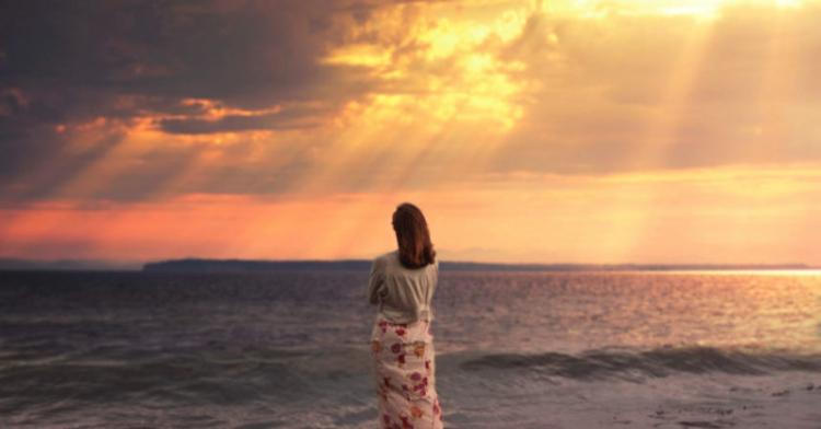 mood girl sunset sea lights alone 860x450 c