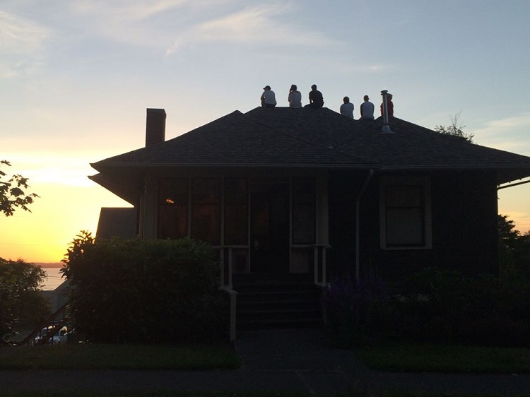 Forest Street Sunset watching crew