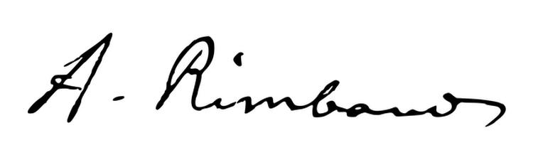 Arthur Rimbaud signature 650