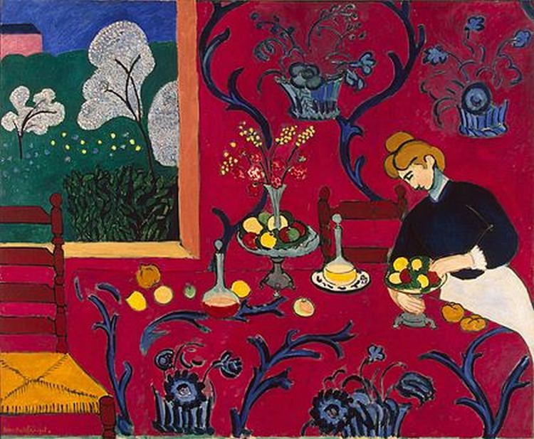 Matisse The Dessert Harmony in Red Henri 1908 fast