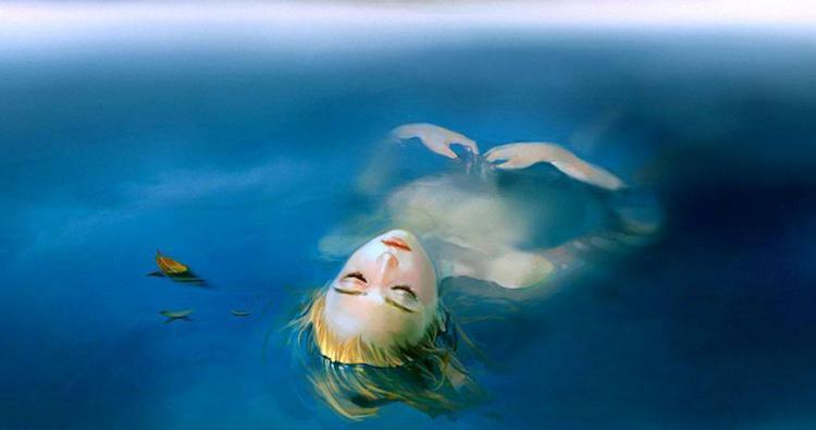 Картинки по запросу человек лежит на воде