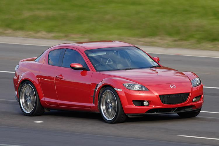 Mazda RX 8 on freeway
